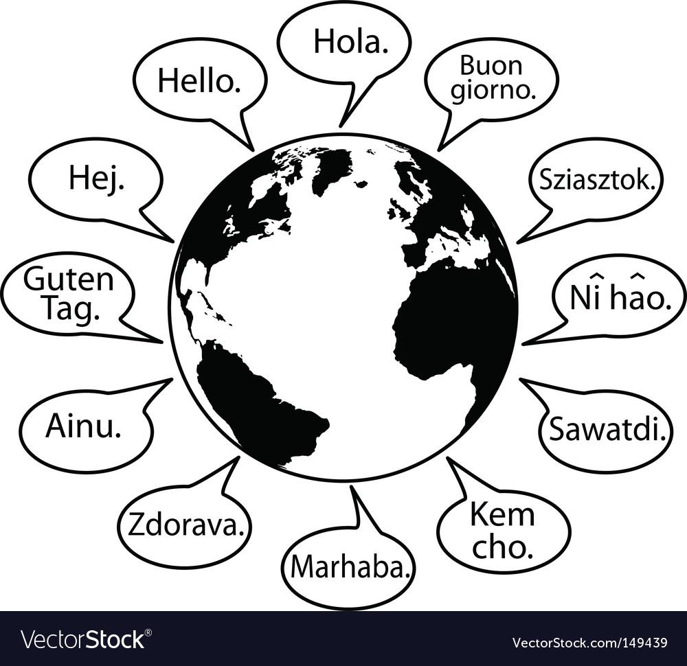 Hello speech bubbles vector