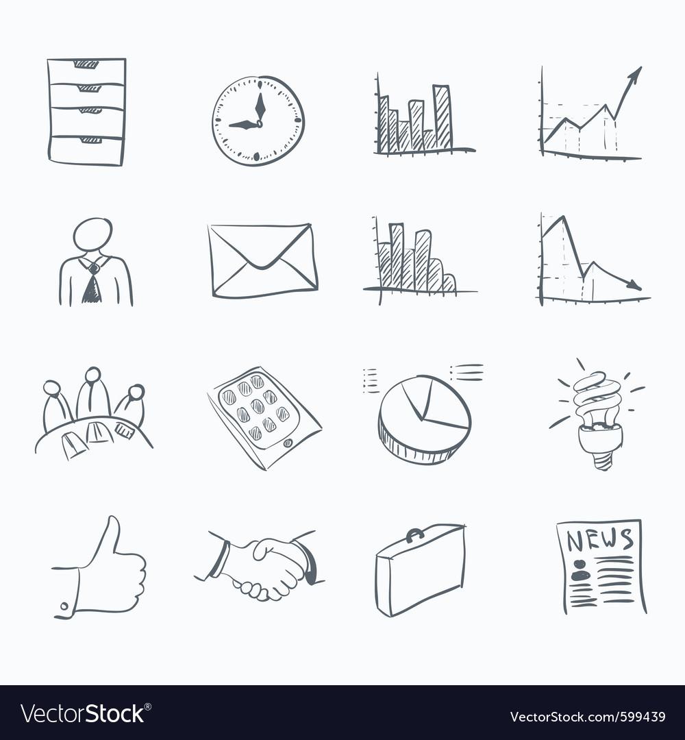 Sticker icon set vector