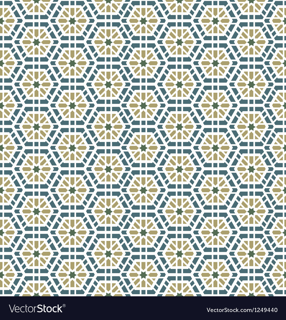 Arabic seamless pattern background vector