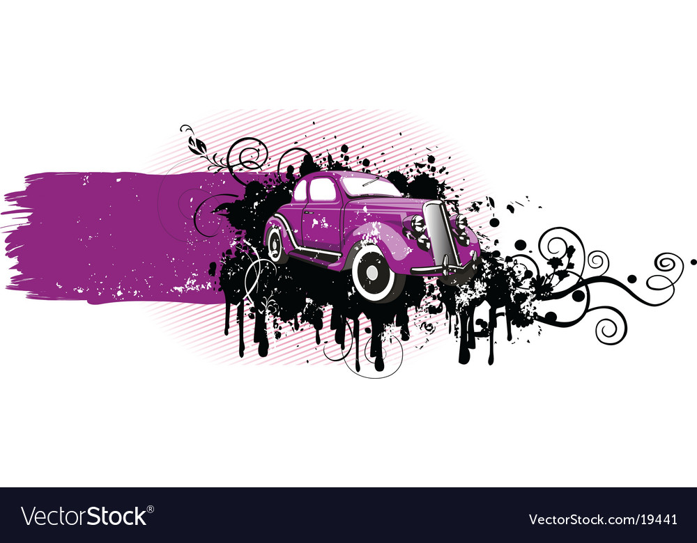 Grunge car vector