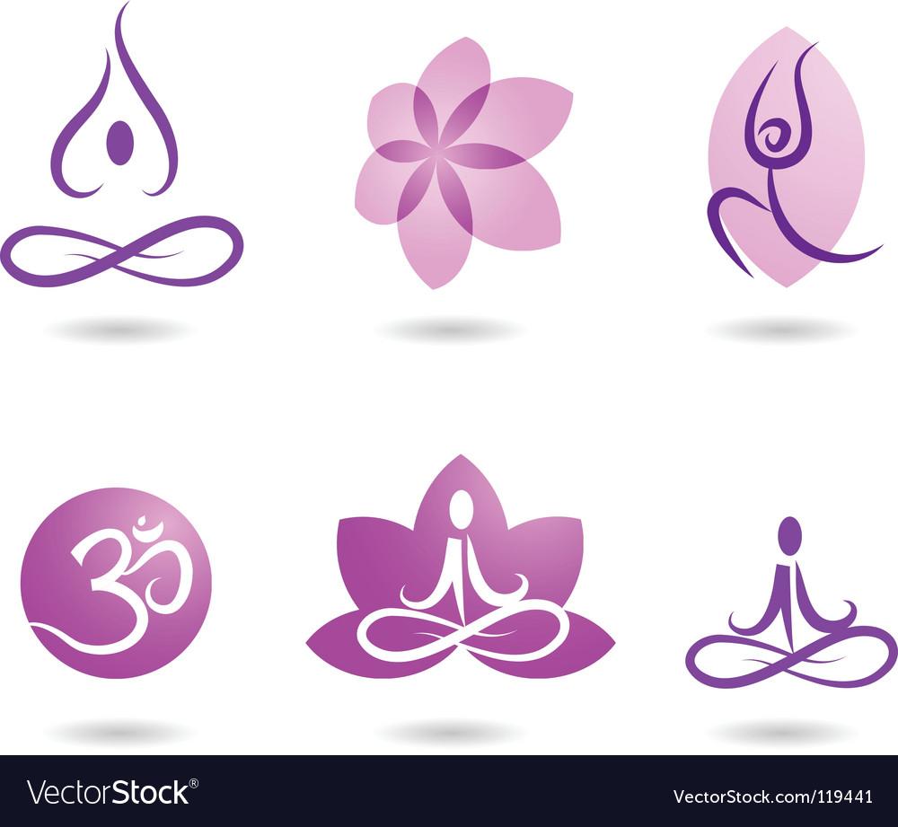 Zen and yoga logos vector
