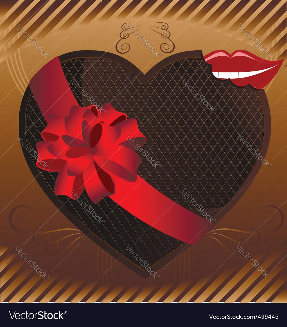 Chocolate heart vector