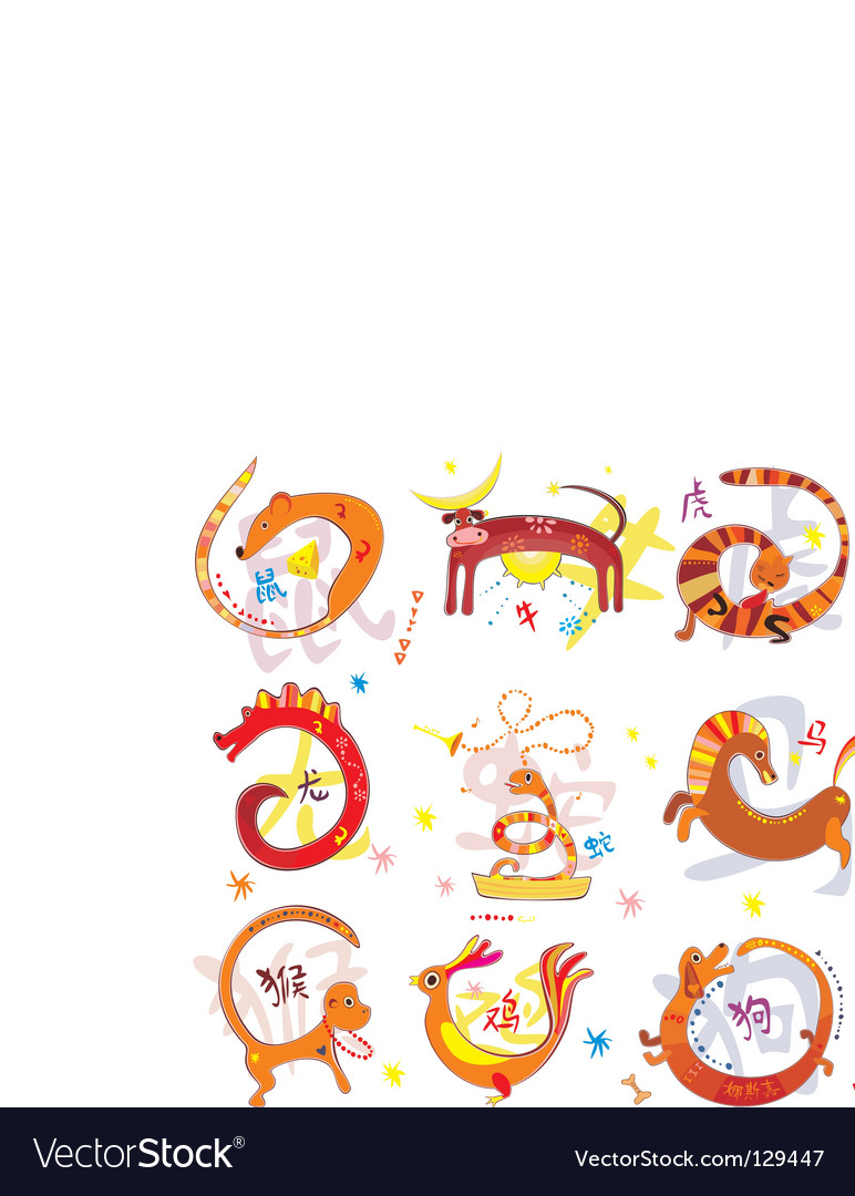 Zodiac Animals Chinese zodiac animals vector