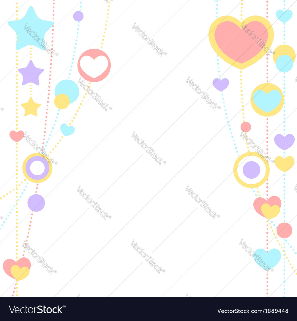 Cute congratulation card with border of hearts vector by Yuzach ...