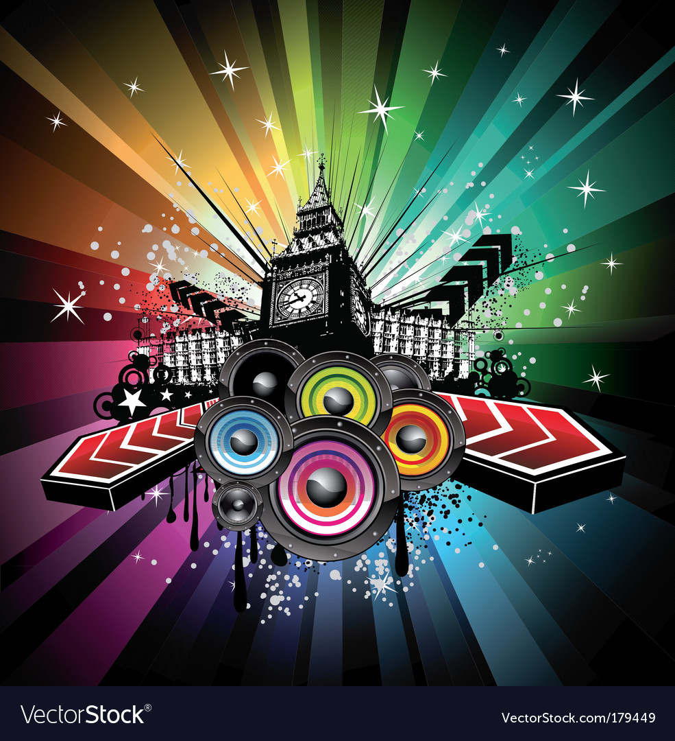 London musical event background vector