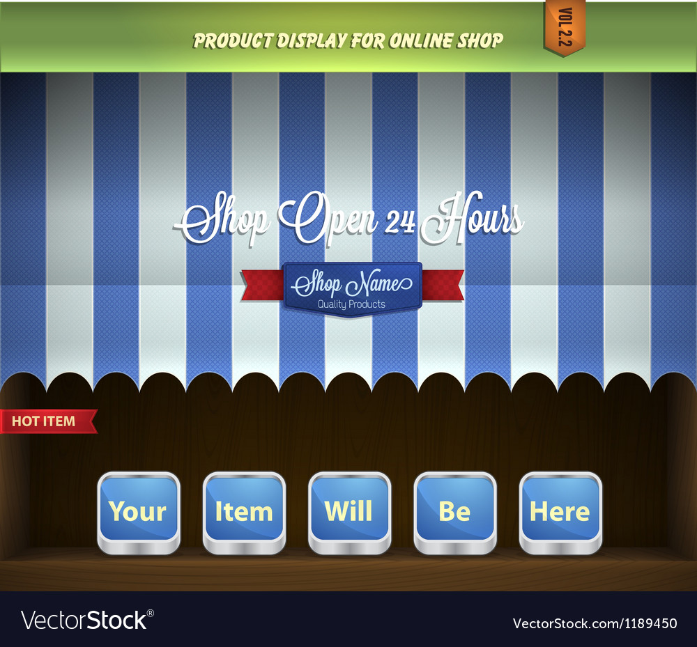 Canopy product display vector