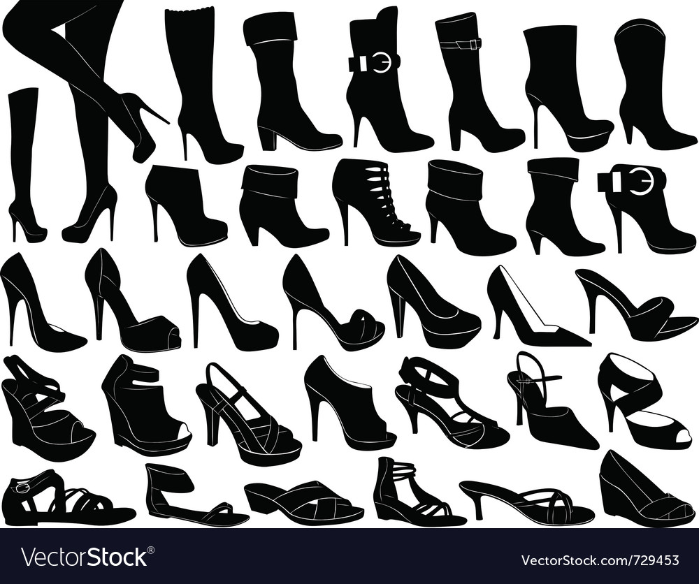Shoes set vector