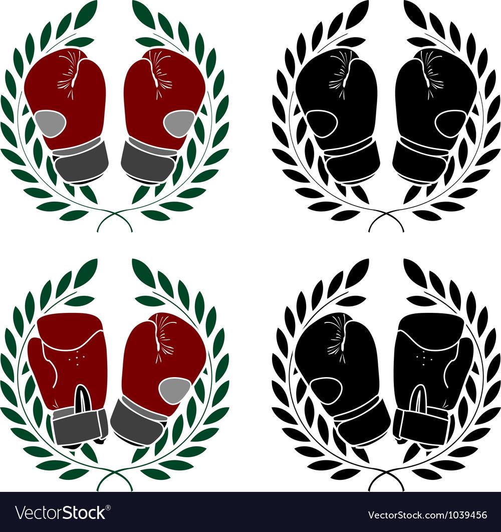 Set of boxer gloves stencils vector