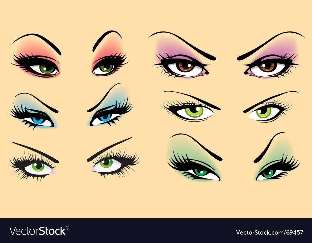 Beautiful makeup vector