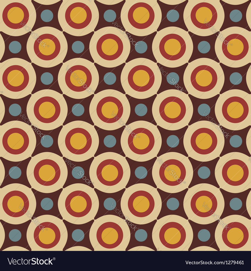 Geometrical pattern in retro colors vector