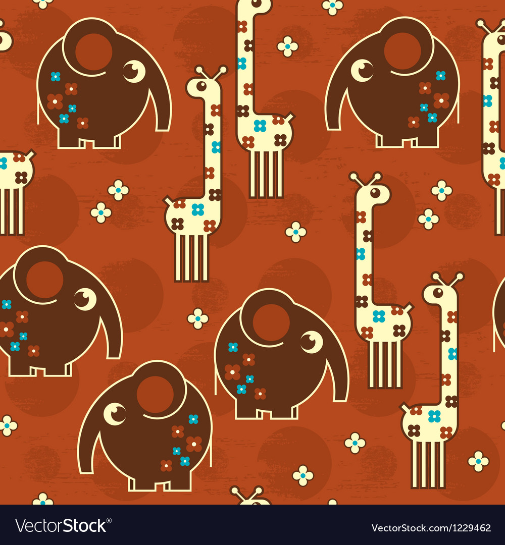 Safari seamless pattern vector