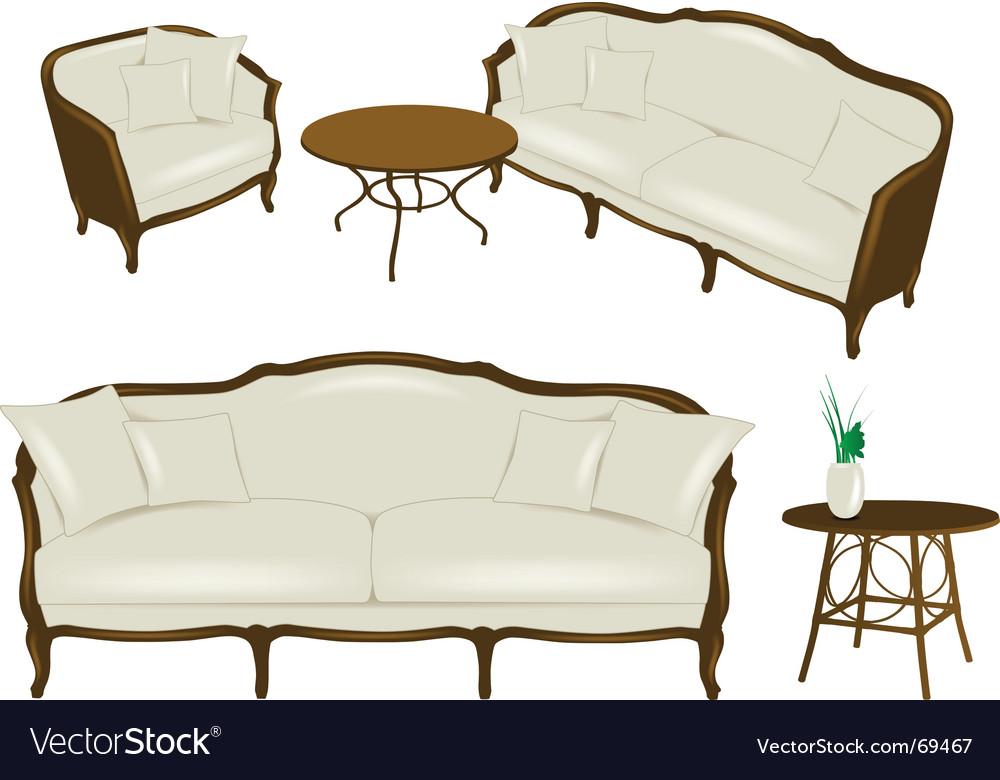 Set of antique elements - furniture vector