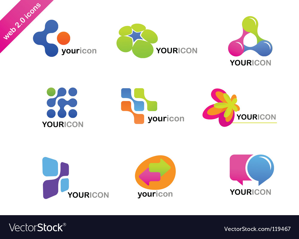 Web icons and logos vector