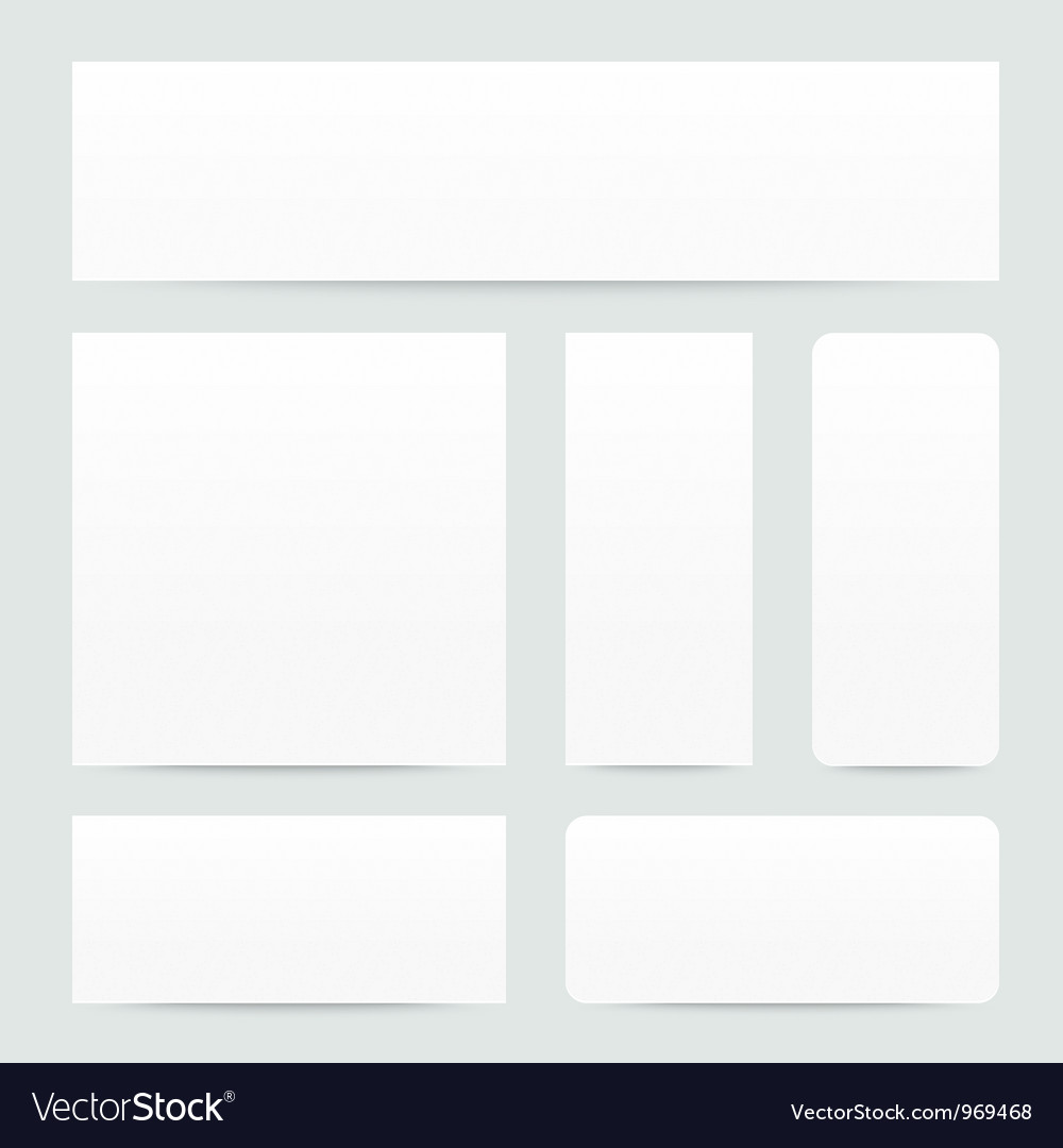 White paper banner set vector