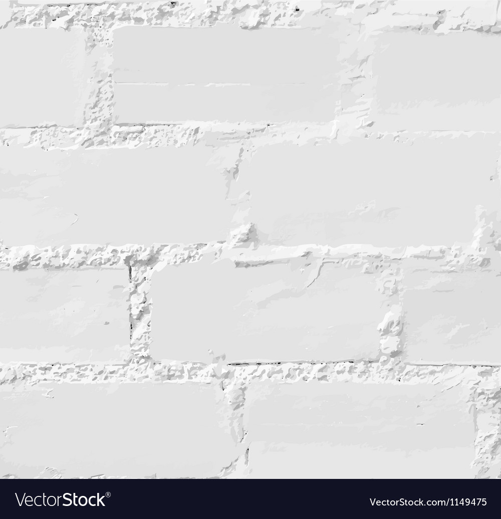 White brick wall seamless vector