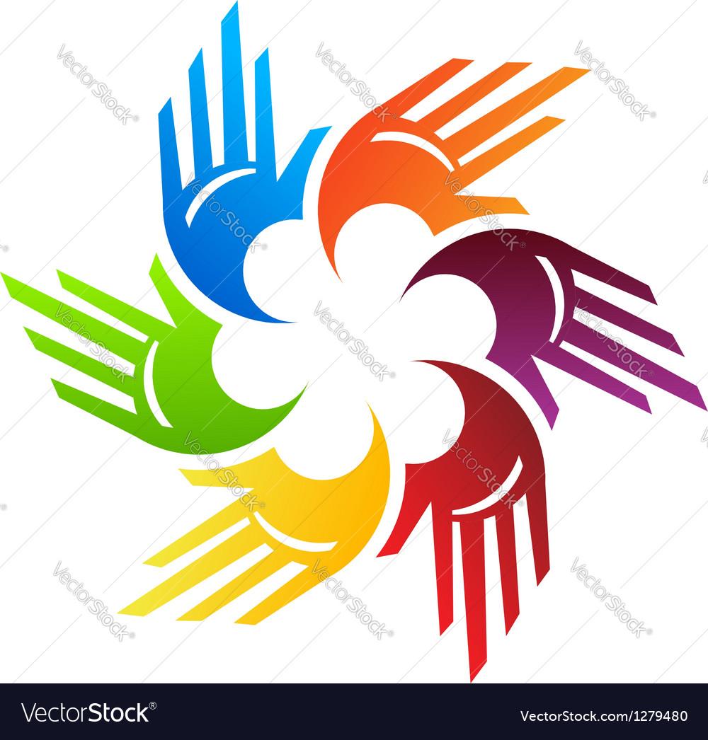 Spiral hands vector
