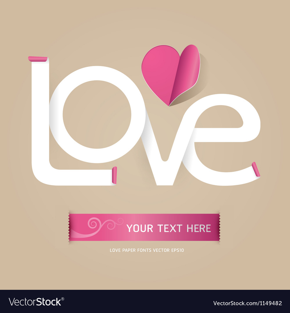 Love font paper concept vector