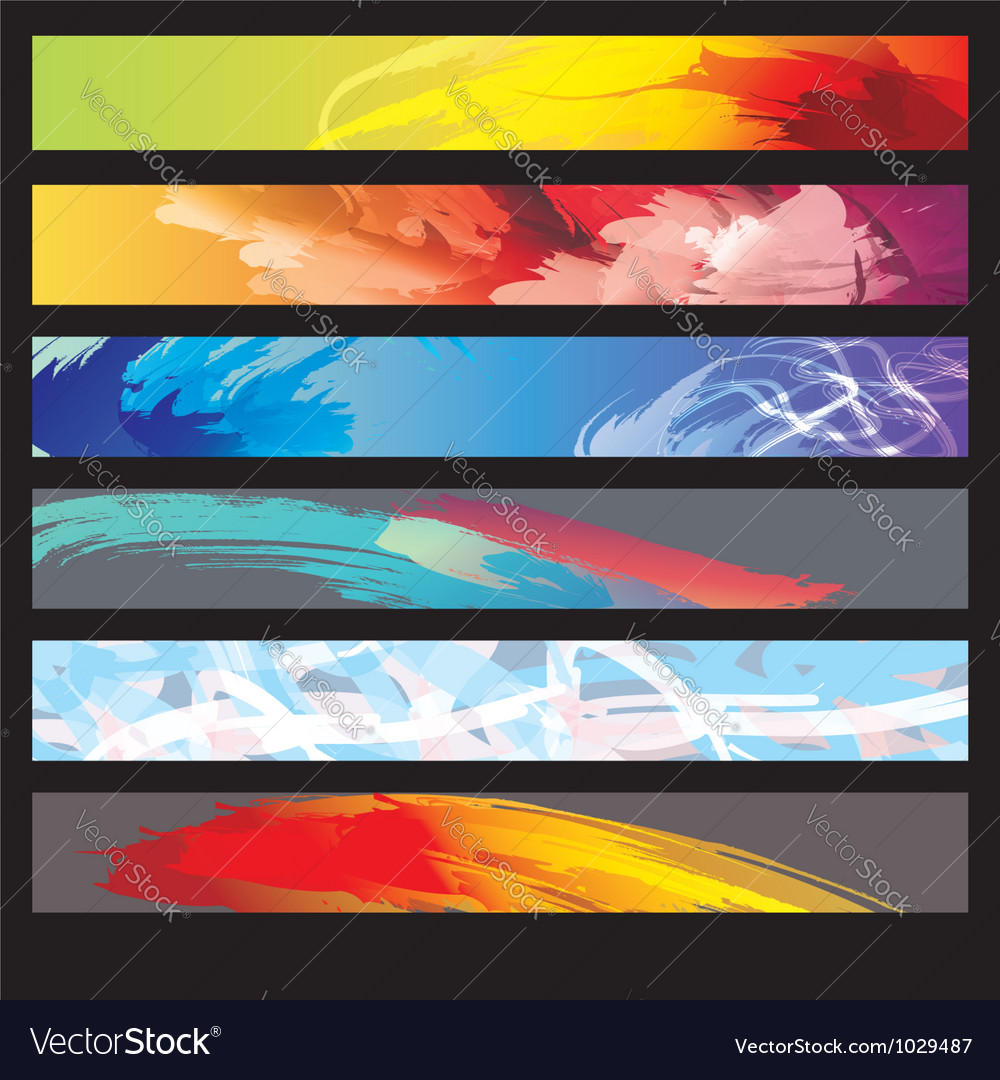 Abstract paint banners vector