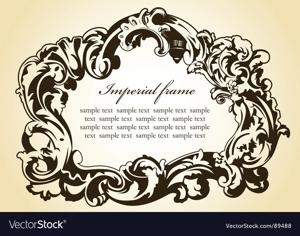 Original imperial frame imperial brown vector