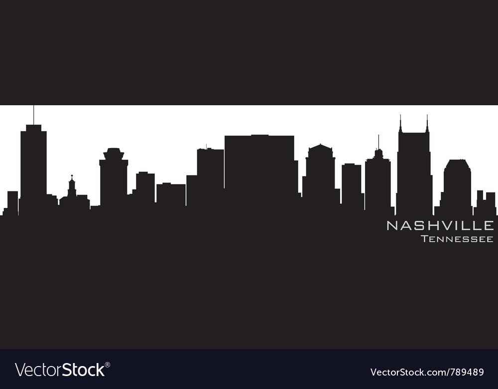 Nashville tennessee skyline detailed silhouette vector