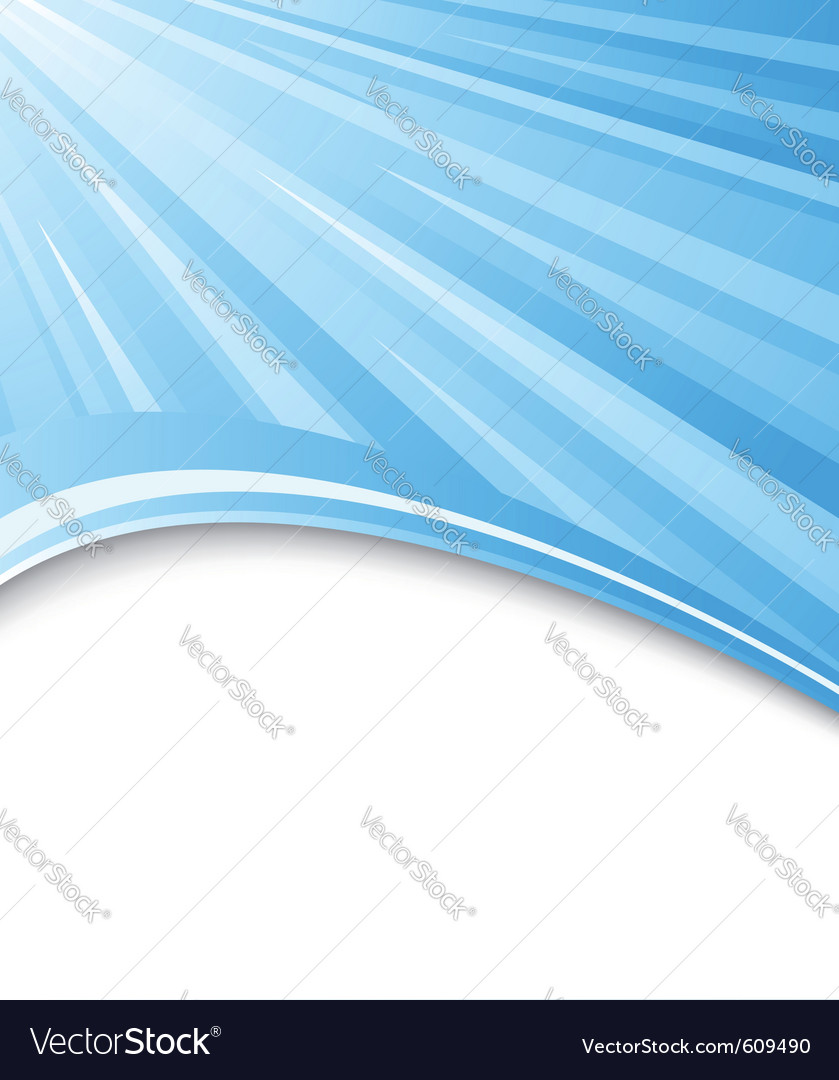 Blue background with rays vector