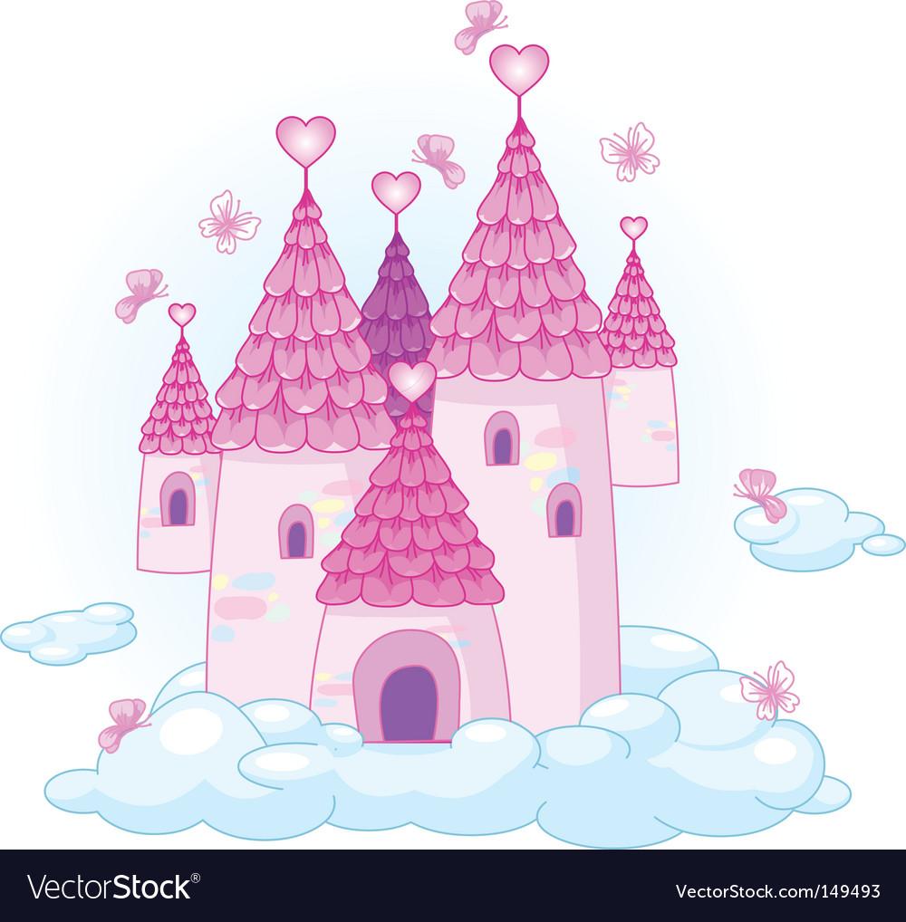 Sky castle vector