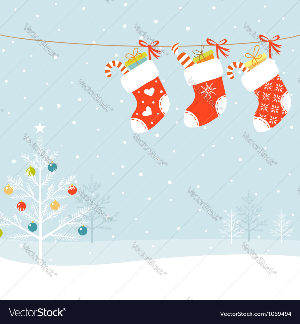 Christmas socks vector