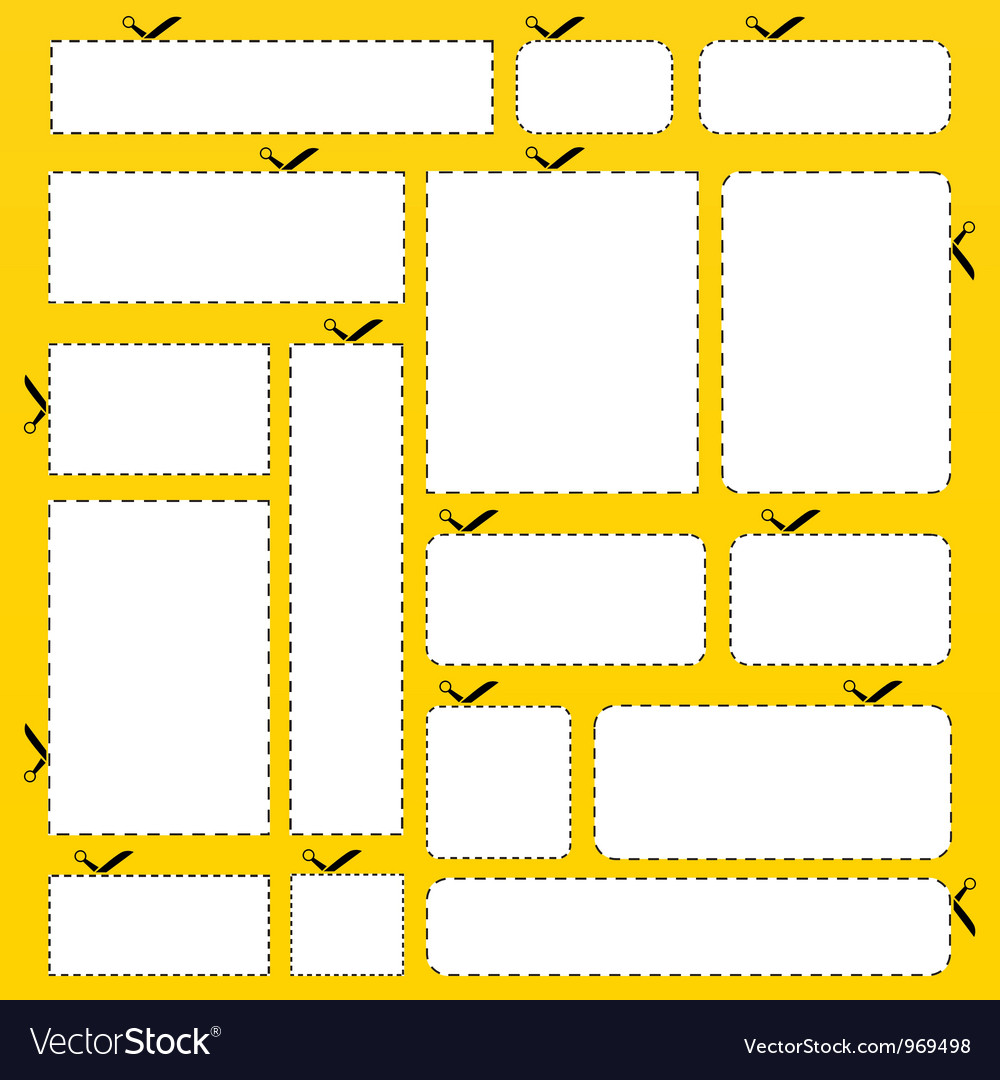 Cut out paper banner set vector