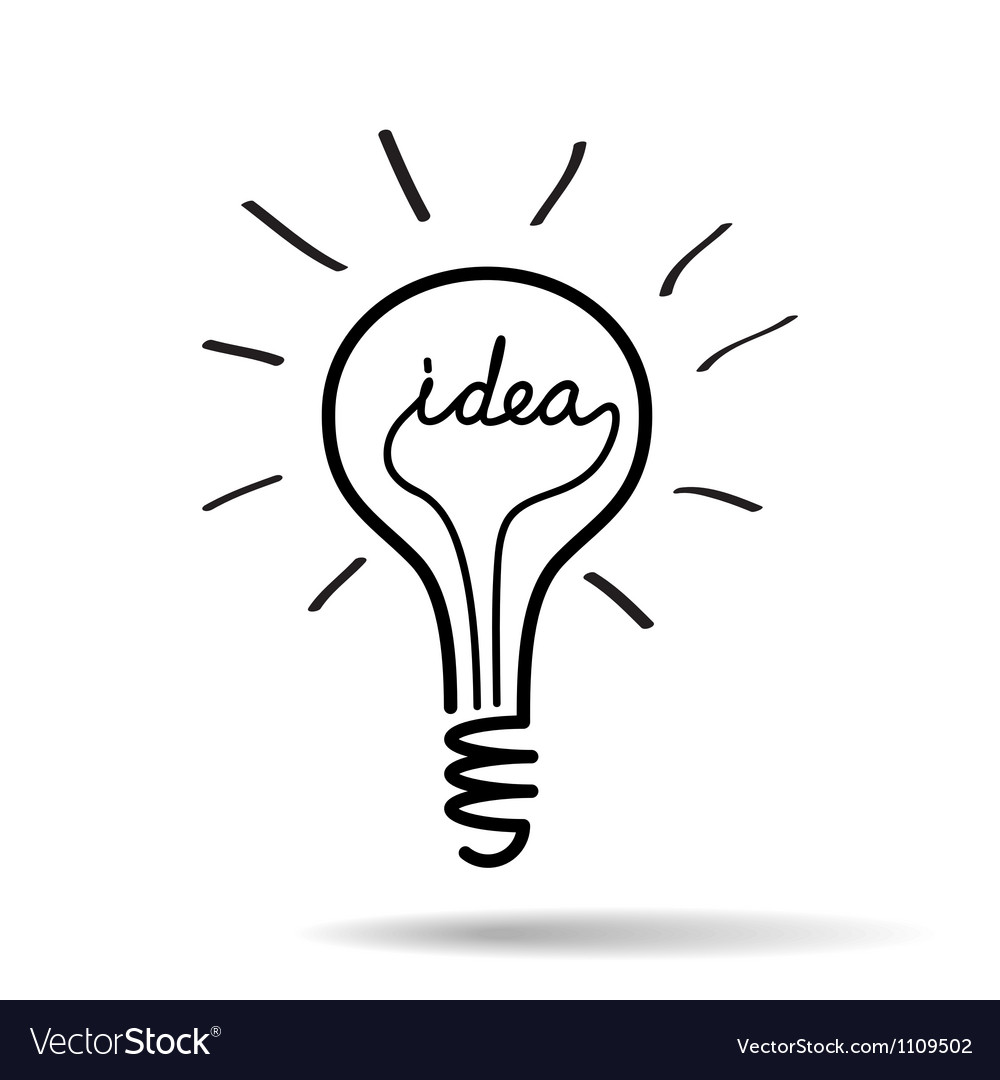 Light bulb idea vector
