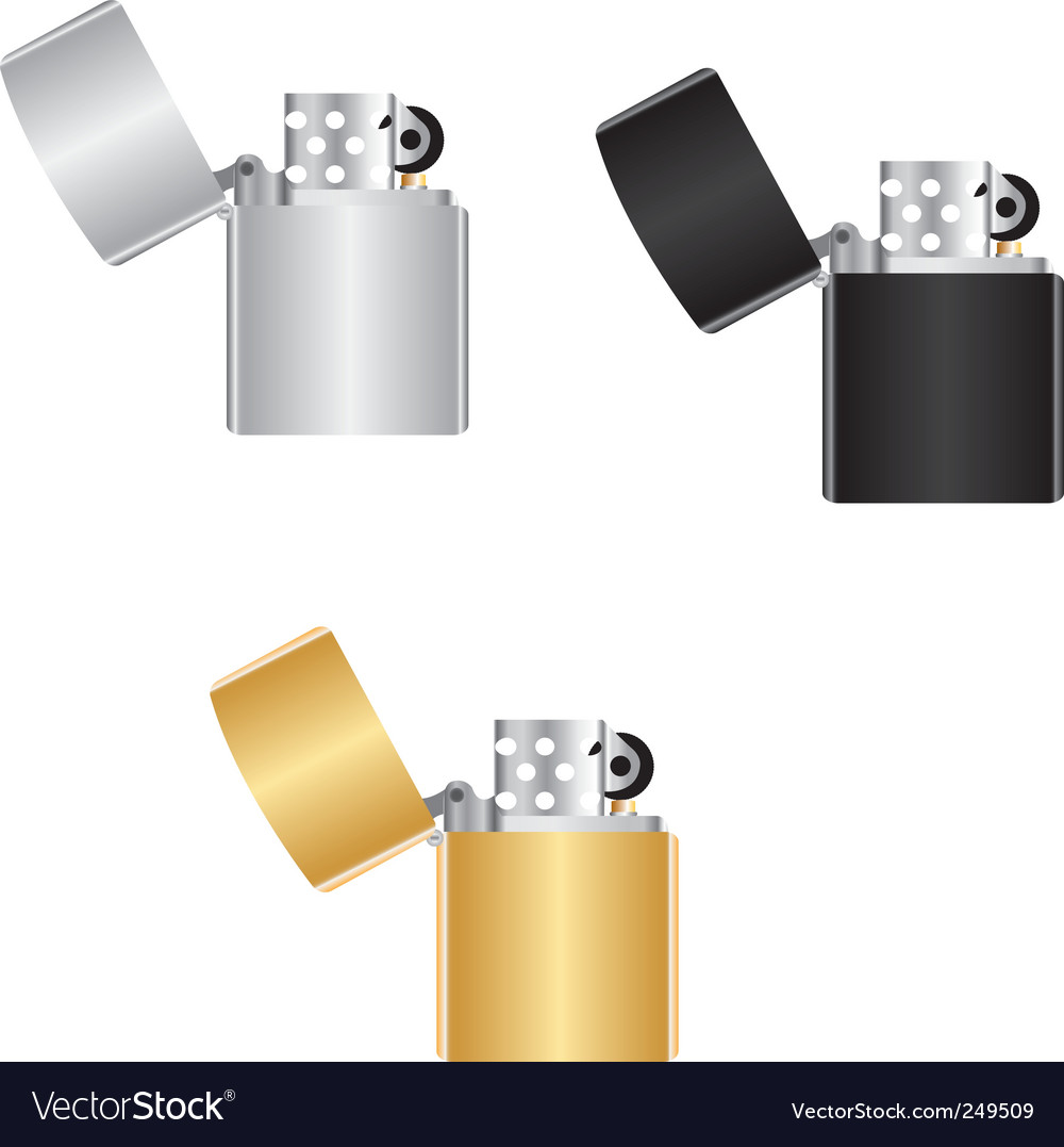 Windproof lighters vector