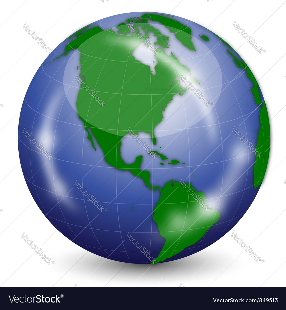 Earth globe vector
