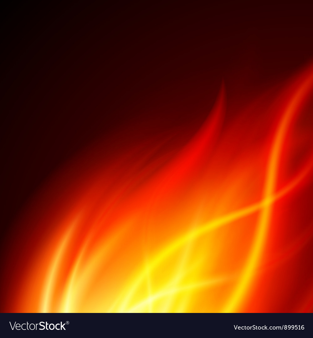 Burning fire background vector