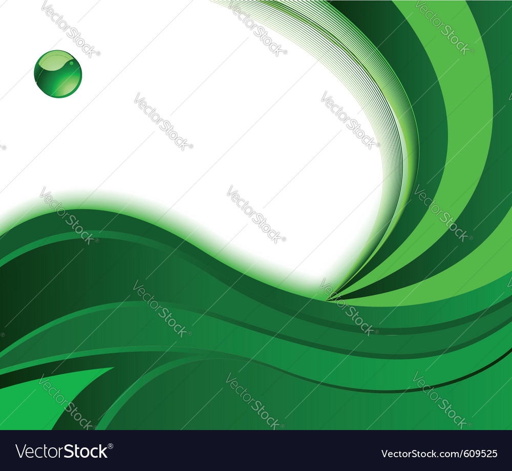 Green background with wave vector