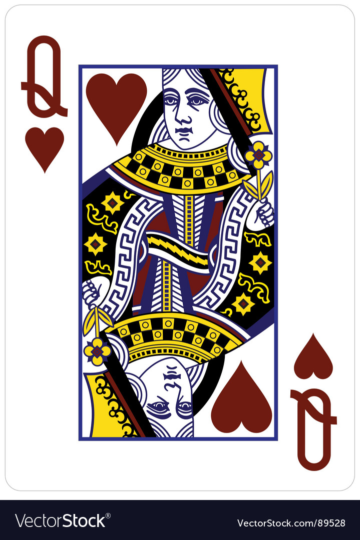 Queenof hearts vector