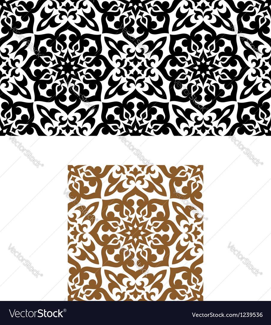Arabic seamless ornament in retro style vector