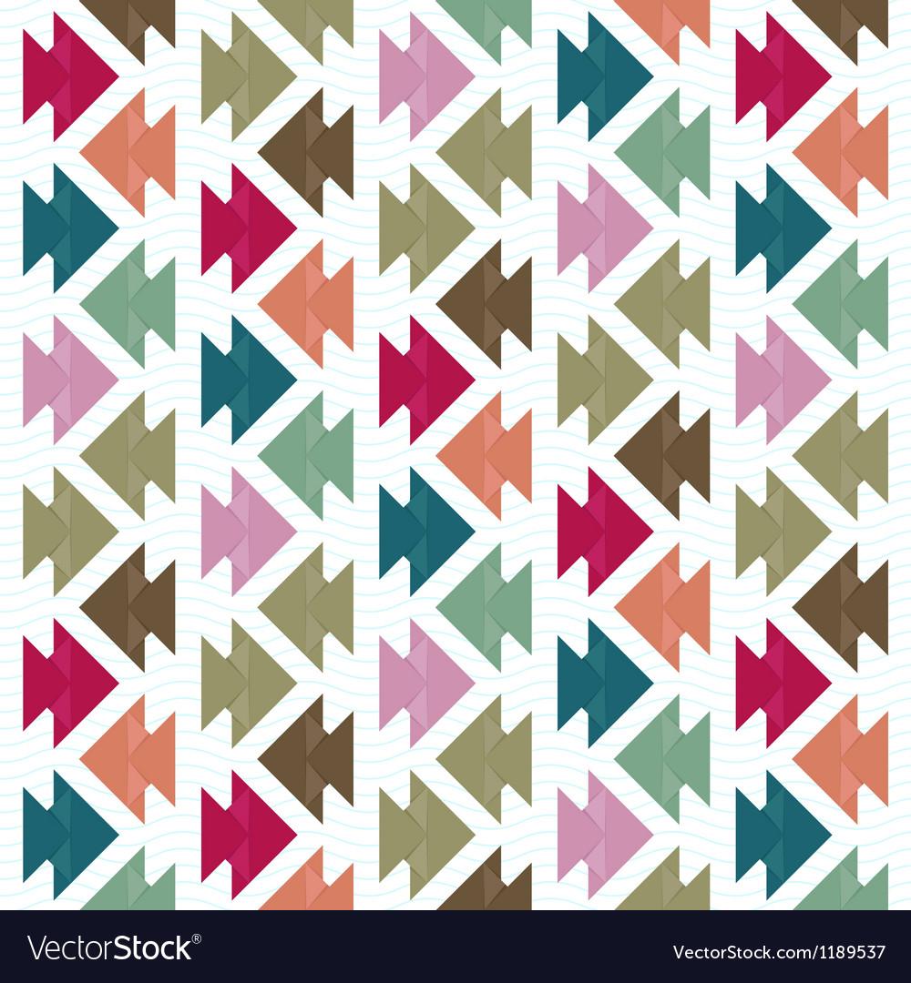 Origami fish pattern vector