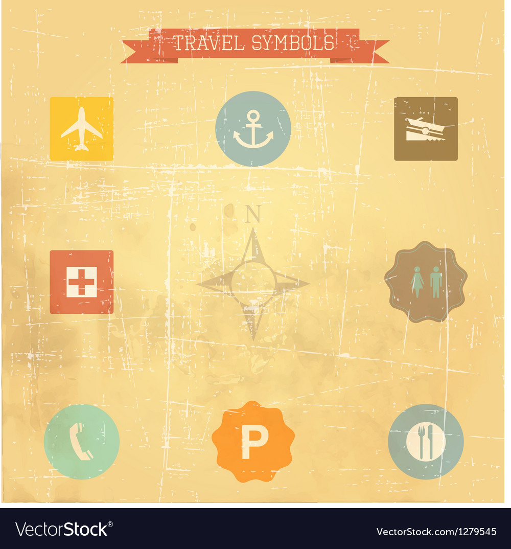 Retro travel sings vector