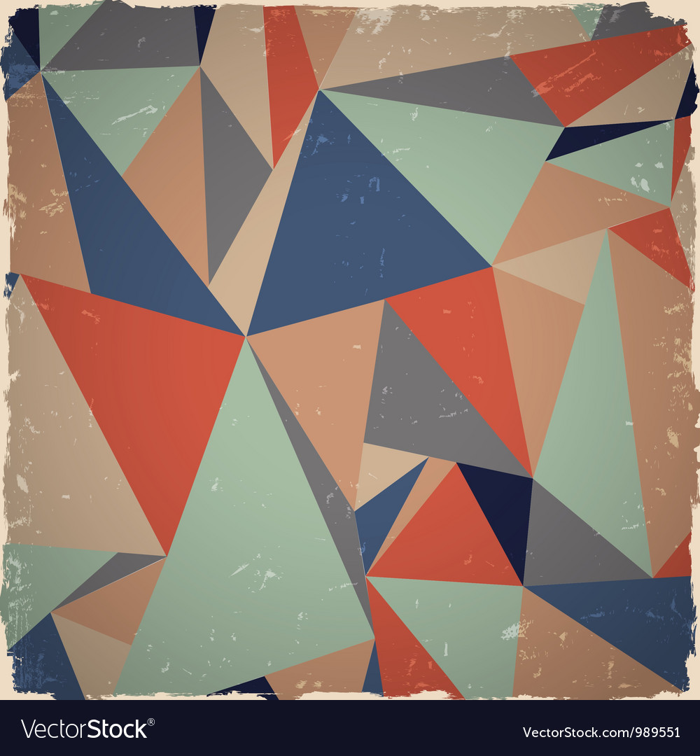 Geometric grunge background vector