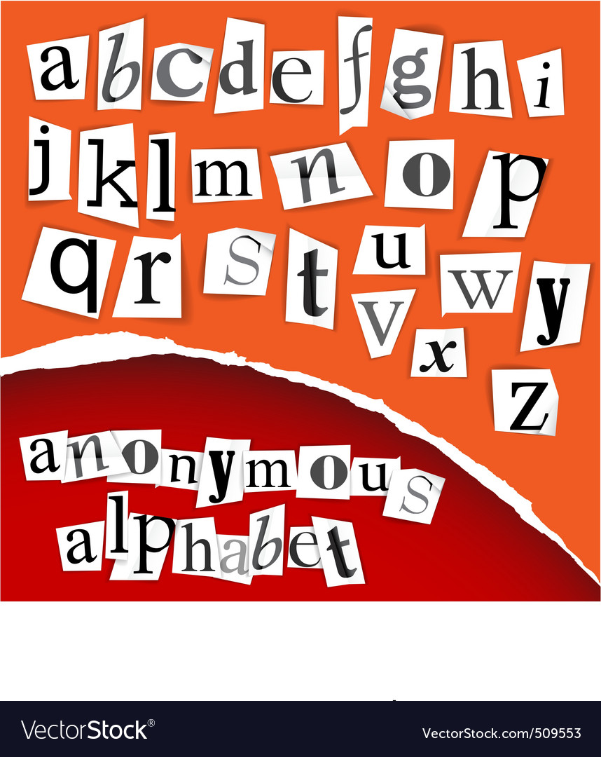 Alphabet clippings vector