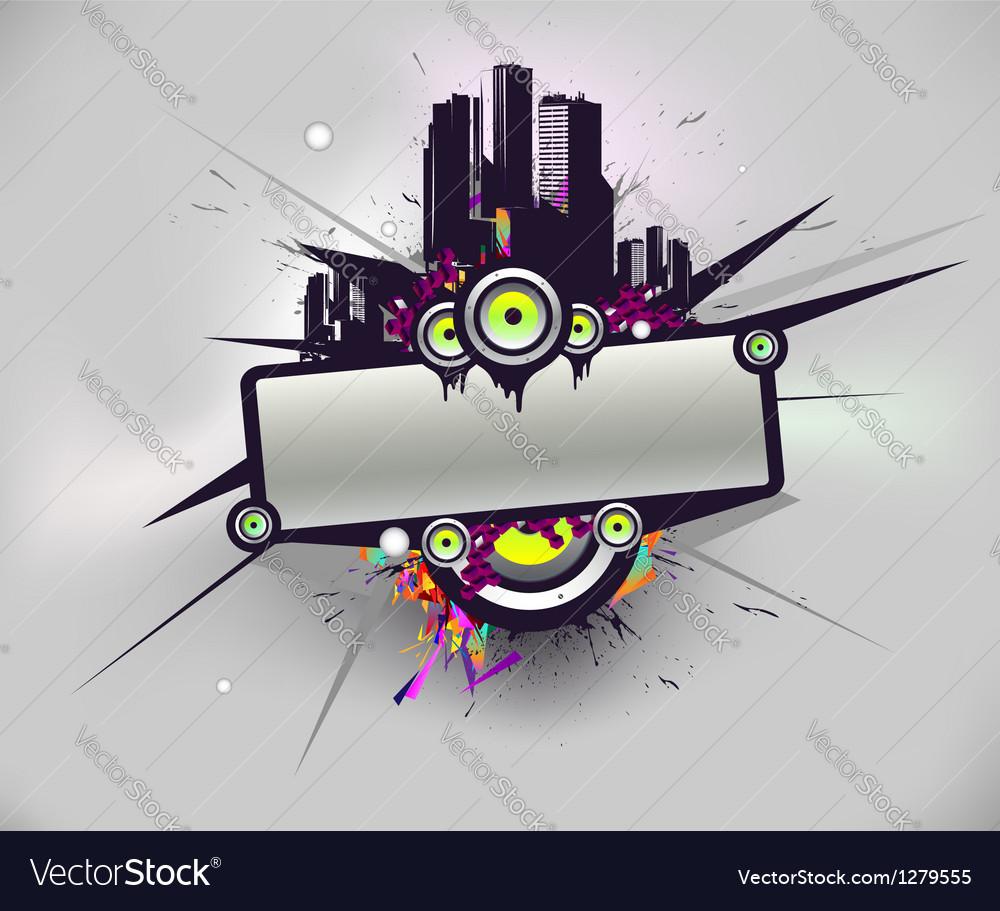 Music urban poster vector