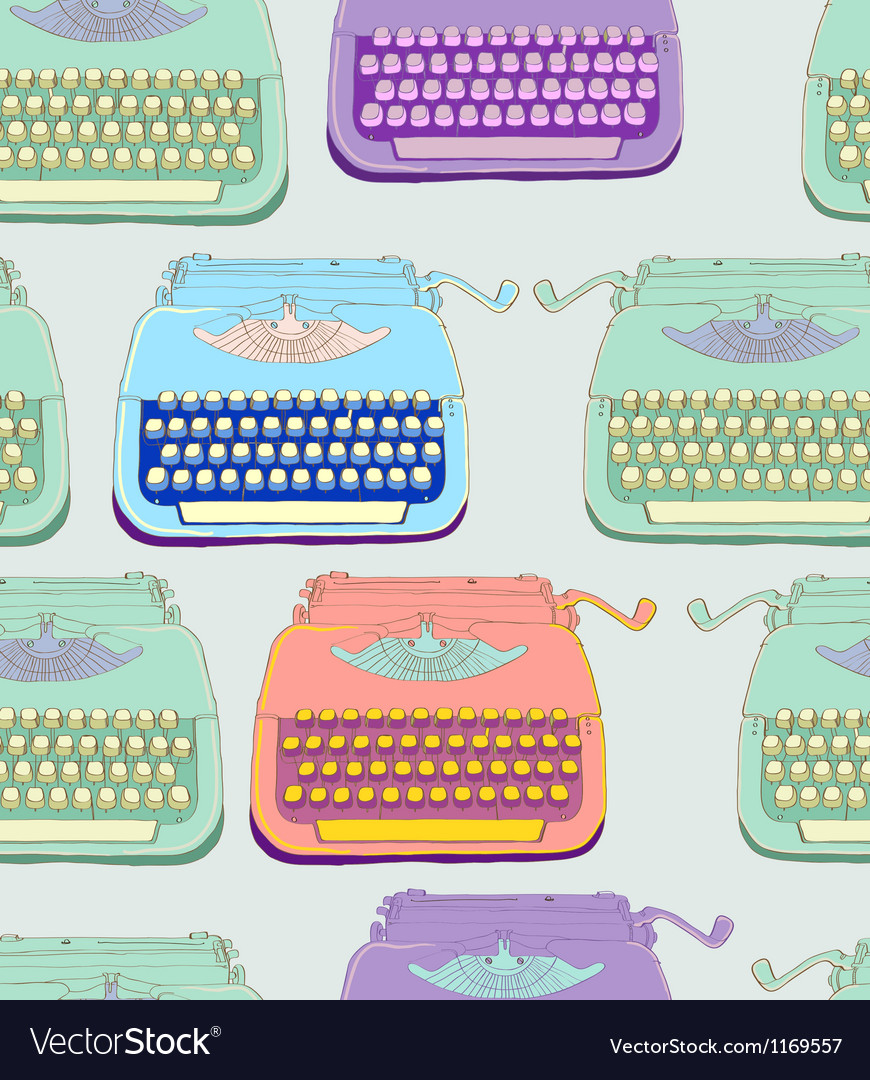 Seamless typewriter vector