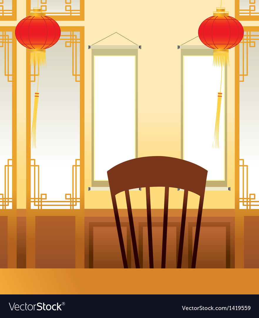 Asian oriental interior vector