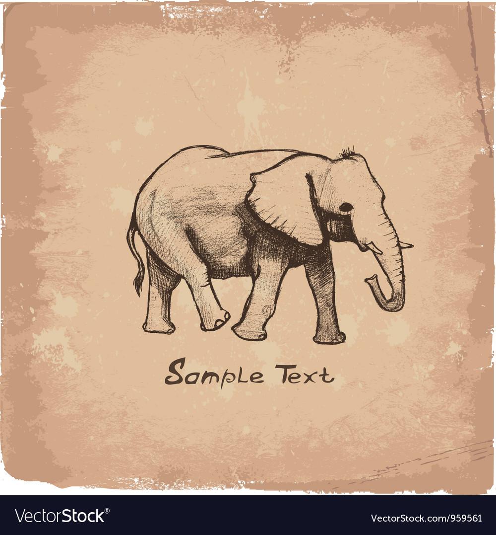 Art elephant vector