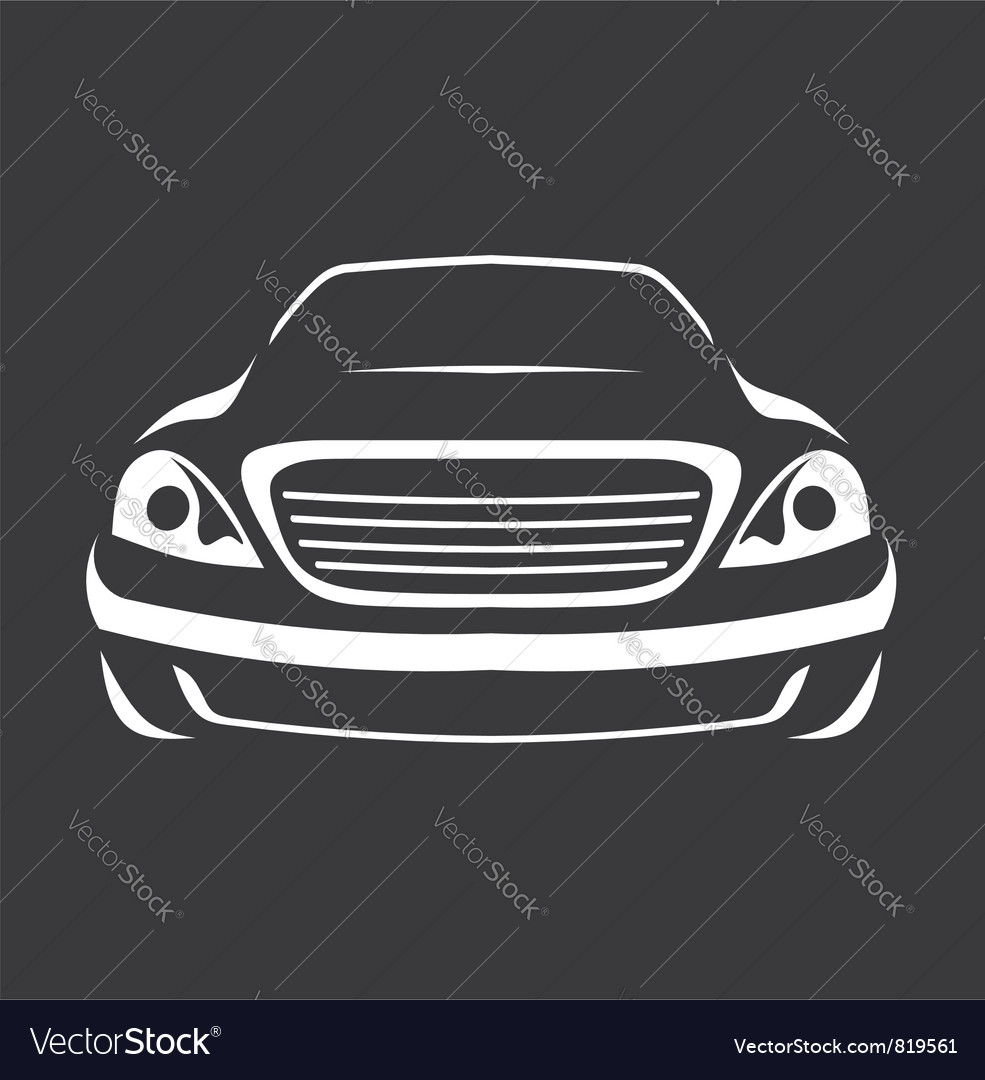 Big car silhouette vector