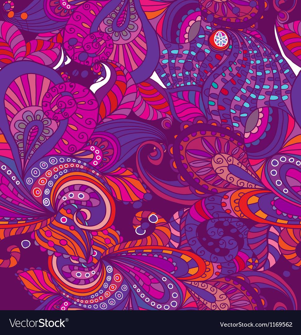 Seamless violet flower ornament vector