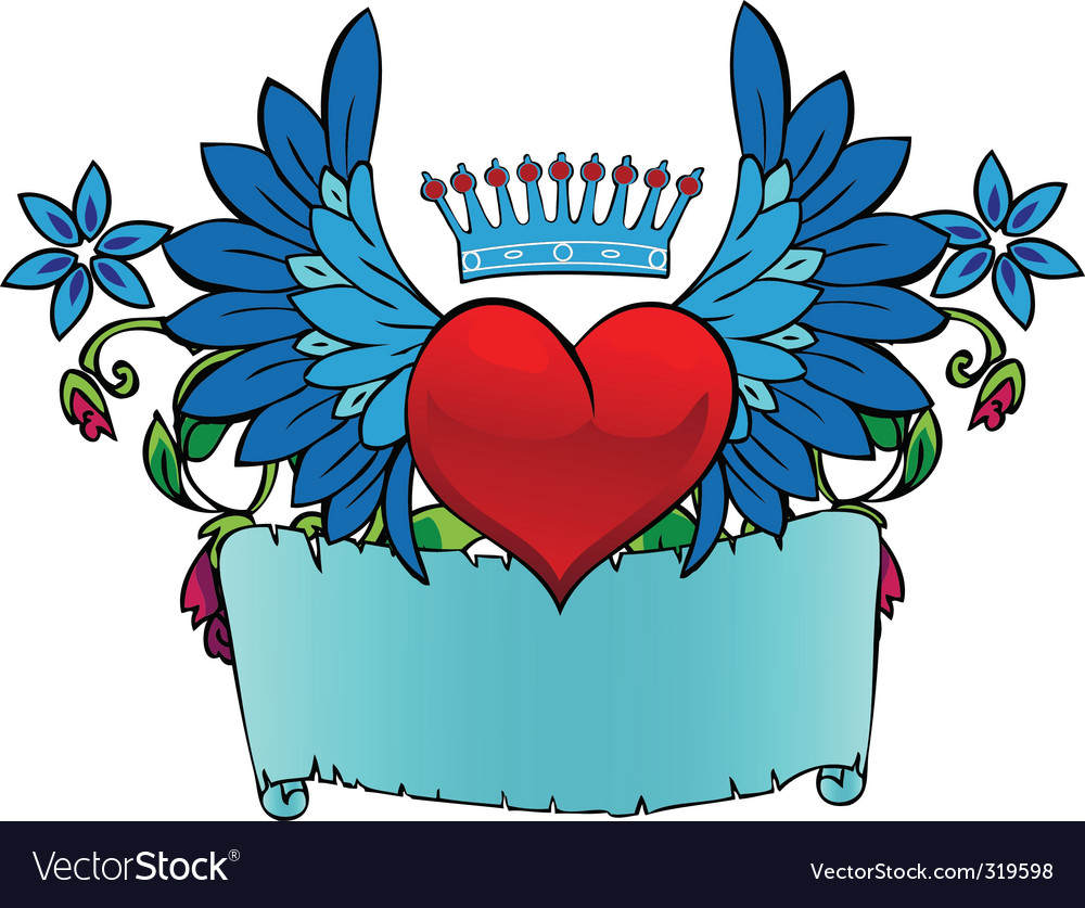 Valentine tattoo vector