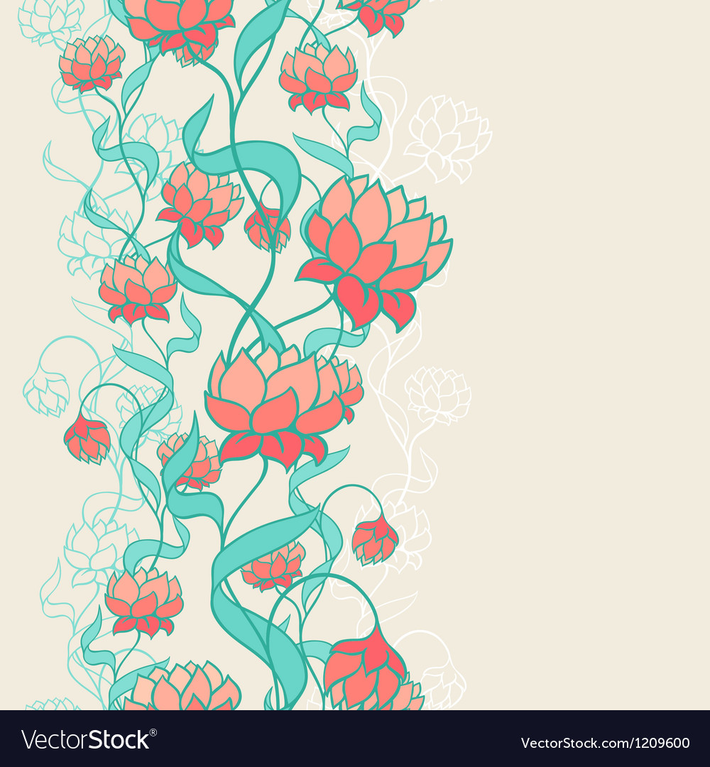 Seamless pattern with abstract flowers vector