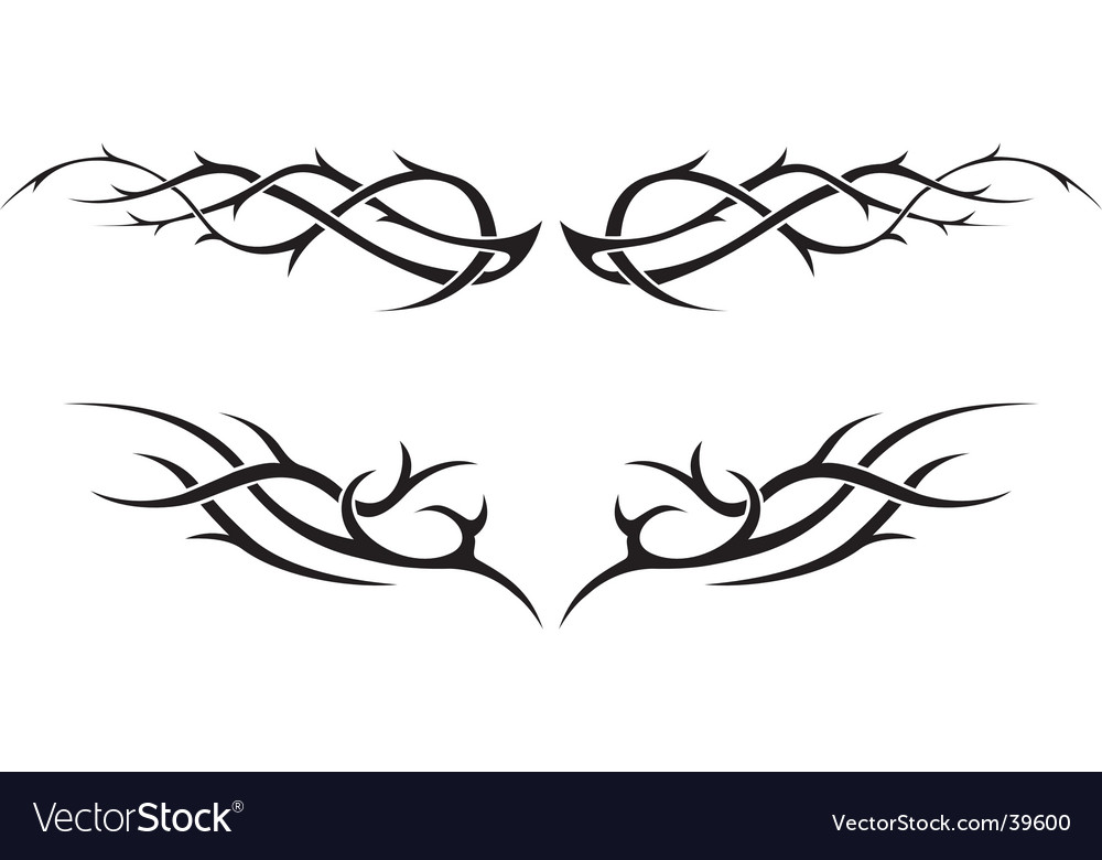 tribal tattoo download vector vector  Outline tattoo  Download Tribal vectors art   39600