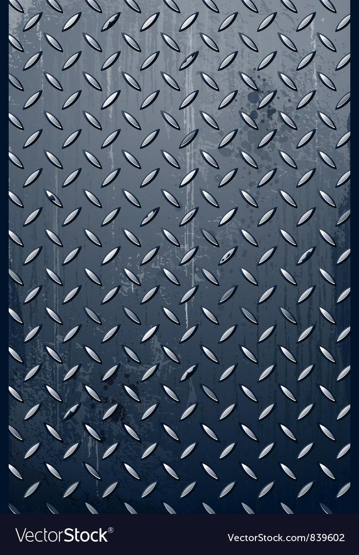 Grungy metal texture vector