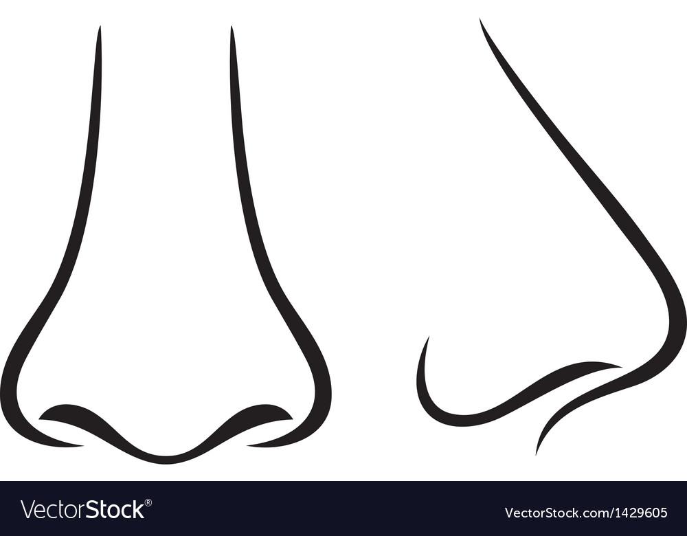 Nose vector by Tribaliumvs - Image #1429605 - VectorStock